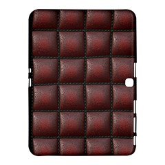 Red Cell Leather Retro Car Seat Textures Samsung Galaxy Tab 4 (10 1 ) Hardshell Case