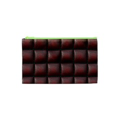 Red Cell Leather Retro Car Seat Textures Cosmetic Bag (xs)