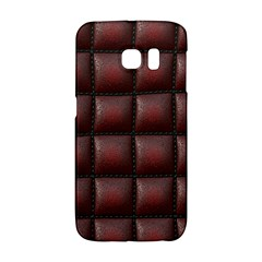 Red Cell Leather Retro Car Seat Textures Galaxy S6 Edge