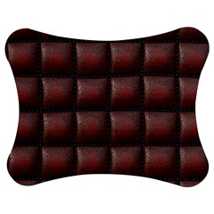 Red Cell Leather Retro Car Seat Textures Jigsaw Puzzle Photo Stand (bow)