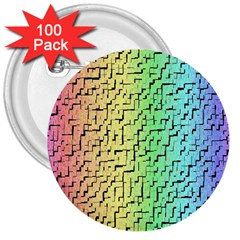A Creative Colorful Background 3  Buttons (100 pack)
