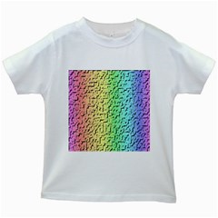 A Creative Colorful Background Kids White T Shirts