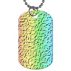 A Creative Colorful Background Dog Tag (one Side)