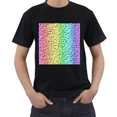 A Creative Colorful Background Men s T-Shirt (Black) (Two Sided)