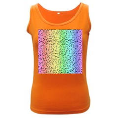 A Creative Colorful Background Women s Dark Tank Top