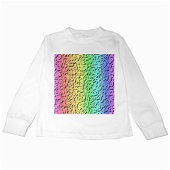A Creative Colorful Background Kids Long Sleeve T-Shirts