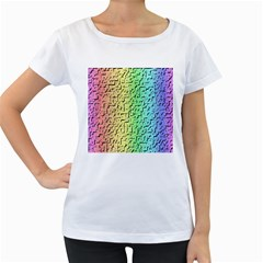 A Creative Colorful Background Women s Loose Fit T Shirt (white)