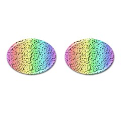 A Creative Colorful Background Cufflinks (Oval)