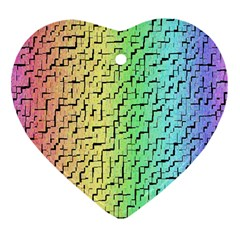 A Creative Colorful Background Heart Ornament (Two Sides)