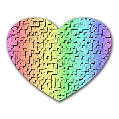 A Creative Colorful Background Heart Mousepads