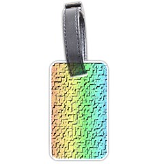 A Creative Colorful Background Luggage Tags (One Side)