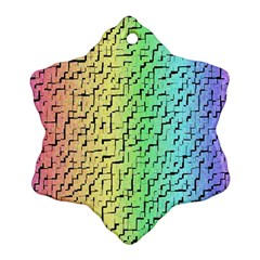 A Creative Colorful Background Ornament (snowflake)