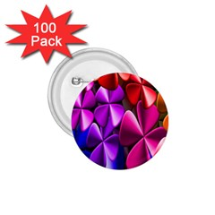 Colorful Flower Floral Rainbow 1.75  Buttons (100 pack)