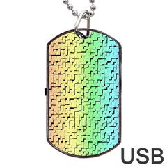 A Creative Colorful Background Dog Tag Usb Flash (two Sides)