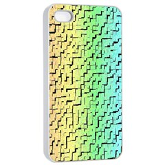 A Creative Colorful Background Apple iPhone 4/4s Seamless Case (White)