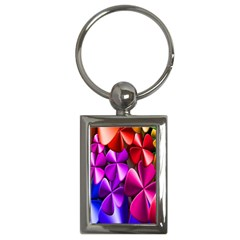 Colorful Flower Floral Rainbow Key Chains (Rectangle)