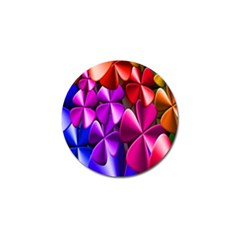 Colorful Flower Floral Rainbow Golf Ball Marker