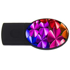 Colorful Flower Floral Rainbow USB Flash Drive Oval (1 GB)