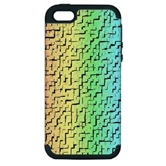 A Creative Colorful Background Apple iPhone 5 Hardshell Case (PC+Silicone)