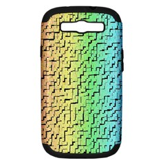 A Creative Colorful Background Samsung Galaxy S III Hardshell Case (PC+Silicone)