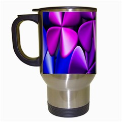 Colorful Flower Floral Rainbow Travel Mugs (White)