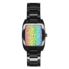 A Creative Colorful Background Stainless Steel Barrel Watch