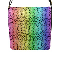 A Creative Colorful Background Flap Messenger Bag (l)