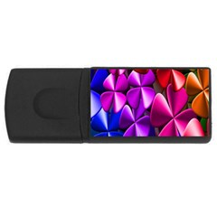 Colorful Flower Floral Rainbow USB Flash Drive Rectangular (4 GB)