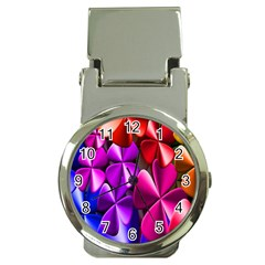Colorful Flower Floral Rainbow Money Clip Watches