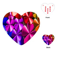Colorful Flower Floral Rainbow Playing Cards (Heart)