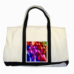 Colorful Flower Floral Rainbow Two Tone Tote Bag