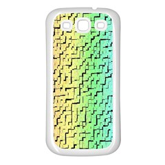 A Creative Colorful Background Samsung Galaxy S3 Back Case (White)