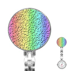 A Creative Colorful Background Stainless Steel Nurses Watch