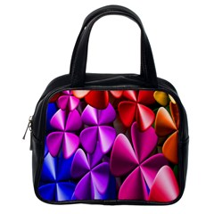 Colorful Flower Floral Rainbow Classic Handbags (One Side)