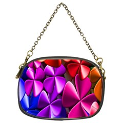 Colorful Flower Floral Rainbow Chain Purses (Two Sides)