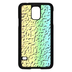 A Creative Colorful Background Samsung Galaxy S5 Case (Black)