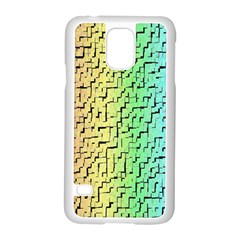 A Creative Colorful Background Samsung Galaxy S5 Case (White)