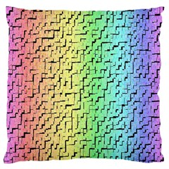 A Creative Colorful Background Standard Flano Cushion Case (one Side)