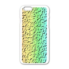 A Creative Colorful Background Apple Iphone 6/6s White Enamel Case