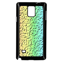 A Creative Colorful Background Samsung Galaxy Note 4 Case (Black)