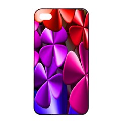 Colorful Flower Floral Rainbow Apple iPhone 4/4s Seamless Case (Black)