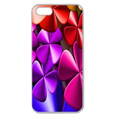 Colorful Flower Floral Rainbow Apple Seamless iPhone 5 Case (Clear)