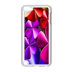 Colorful Flower Floral Rainbow Apple iPod Touch 5 Case (White)