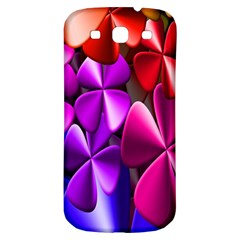Colorful Flower Floral Rainbow Samsung Galaxy S3 S III Classic Hardshell Back Case