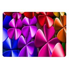 Colorful Flower Floral Rainbow Samsung Galaxy Tab 10.1  P7500 Flip Case