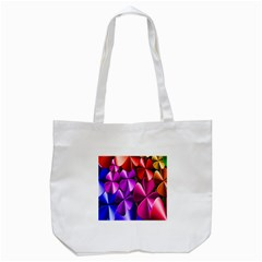 Colorful Flower Floral Rainbow Tote Bag (White)