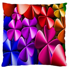 Colorful Flower Floral Rainbow Standard Flano Cushion Case (One Side)