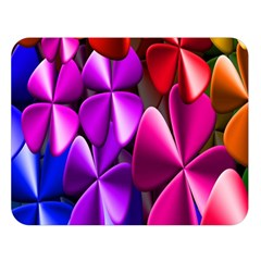 Colorful Flower Floral Rainbow Double Sided Flano Blanket (Large)