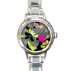 Abstract Illustration Nameless Fantasy Round Italian Charm Watch