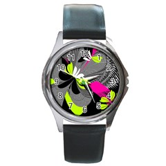 Abstract Illustration Nameless Fantasy Round Metal Watch